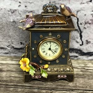 Jay Strongwater songbirds small deal decor clock